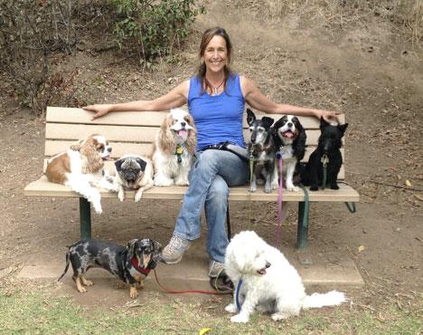 Sara Munro with dog friends